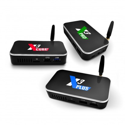 X3 TV Box Family Series Devices based on Android 9.0